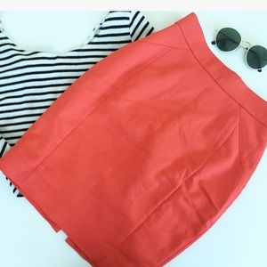RED WORK MINI SKIRT
